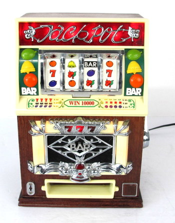 Vintage AM/FM Radio in the shape of a Slot Machine