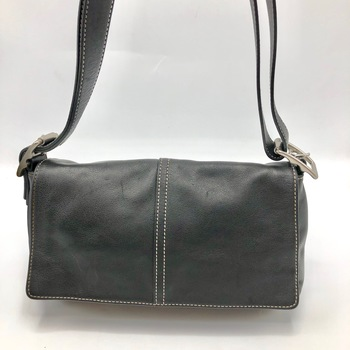 Coach Demi Legacy Black Leather Hobo Shoulder Bag