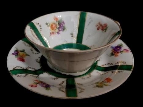 German VTG Bone China Tea Cup and Saucer
