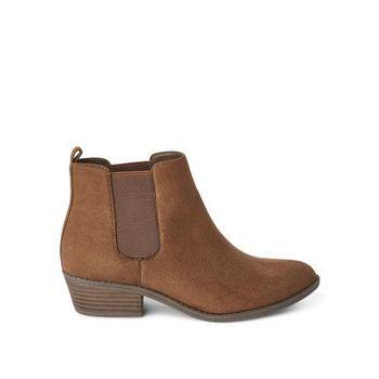 Women's West Booties Dark Brown Size 7