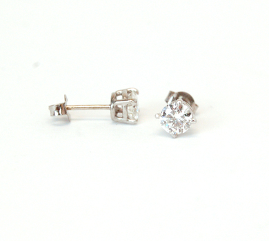 14Kt Gold & .76 Ct Diamond Earrings Appraised $4,850.00