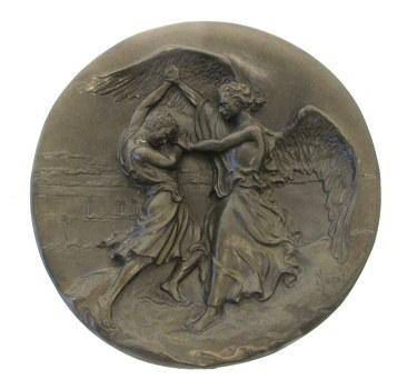 Treasures of Doré Bible Jacob And The Angel Plate