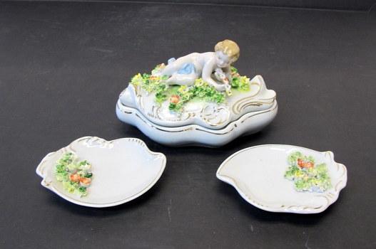 Vintage Kalk Porcelain Vanity Set