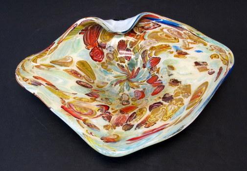 Vintage Murano Art Glass Centerpiece Candy Dish-Circa 1950's