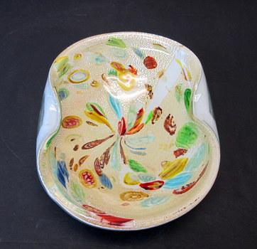 Vintage Murano Art Glass Candy Dish-Circa 1950's