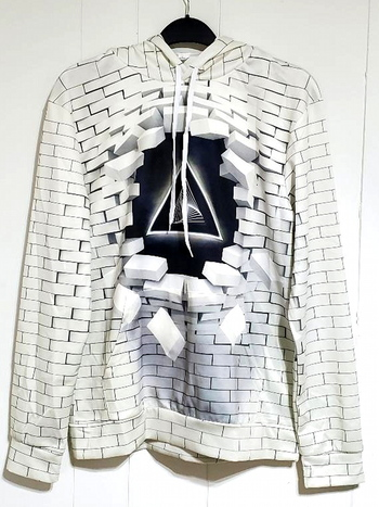 Unisex 3D Printed Hoodie White Size M