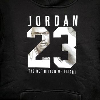 Unisex Jordan 23 3D Printed Hoodie Black Size L