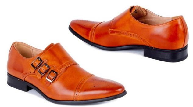 UV Signature Men's Triple Monk Strap Cap Toe Dress Shoes, Size; 10.5