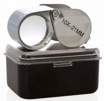 10X 21mm Jewelry Magnifier Loup Magnifying Glass Lens