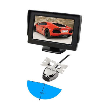 "Universal HD Car Rear View Backup Reverse Packing Camera +4.3"" TFT LCD Monitor"