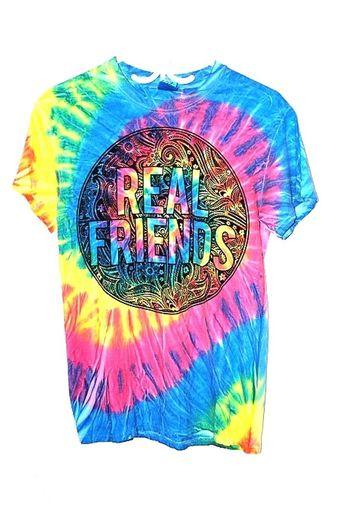 Tye Dye Unisex T Shirt Size Small - Real Friends Graphics