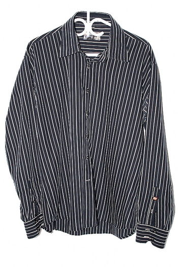 Point Zero Mens Sz XL Button Up Long Sleeve Shirt Stripe