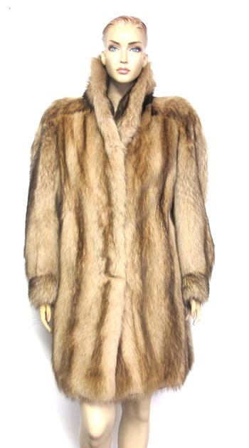 Vintage Women's Blonde Dyed Raccoon Coat-Size M/L