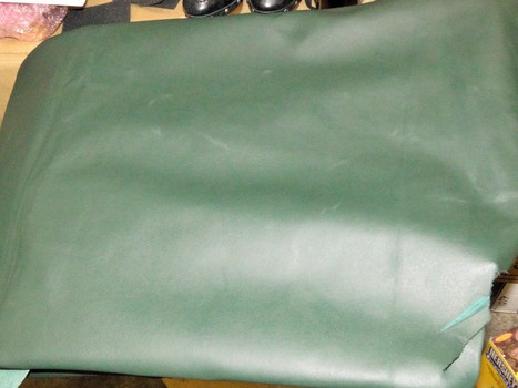 Hunter Green Genuine Cowhide Leather 36 Sq Ft  6 Pounds