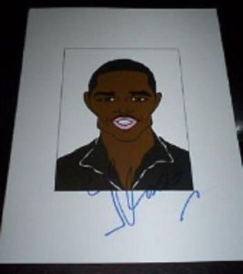 JAMIE FOXX Ray, Dreamgirls, Miami Vice, Jarhead Signed 8.5x11 Cartoon Autographed Signed $300 Retail
