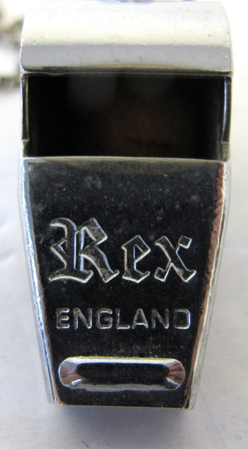 Vintage Rex Nickel Plated Brass Whistle