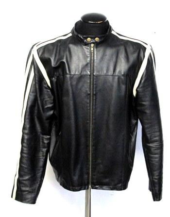 Vintage Men's Leather Jacket- Size L