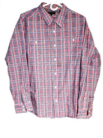 George Mens Sz XL Button Up Long Sleeve Shirt