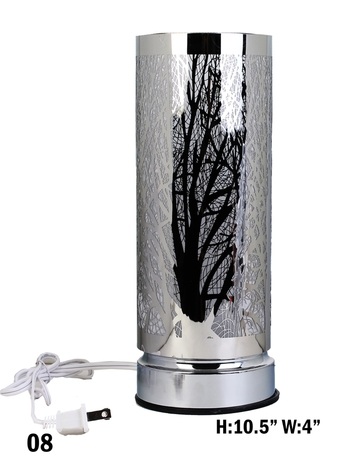 Branch Cut-out Cylinder Table Light - Silver Retails $159