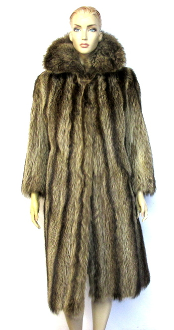 Women's Full Raccoon Coat-Size S/M