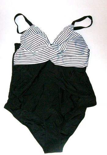 Women's One-Piece Bikini Black/White Size L