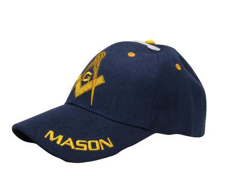 Blue and Gold Mason Masons Freemason Masonic Lodge Ball Cap Hat