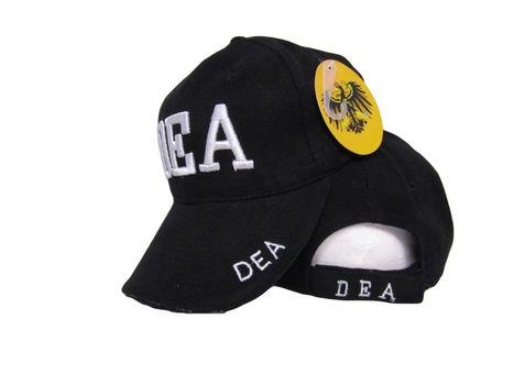 DEA Drug Enforcement Agency Law Enforcement Embroidered 3D Baseball Hat Cap