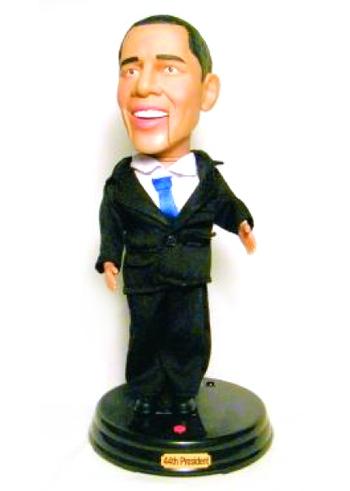 Collectable Gemmy Talking Barack Obama Figurine