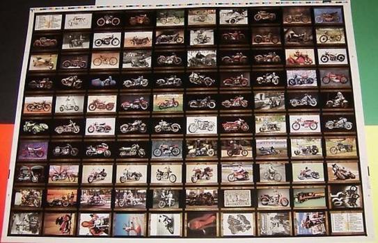 1992 Harley Davidson Series 2 UNCUT Sheet 100 Trading Cards