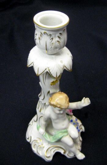 Vintage Von Schierholz Porcelain Candlestick Holder