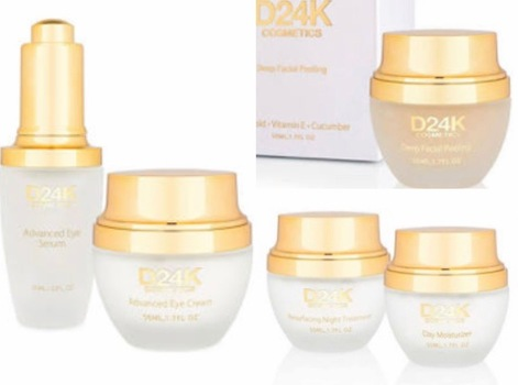 D24K by D'or 24K DAY AND  Night CREAM FACIAL PEEL 24K Advanced Plus Eye Treatment Bundle, Set of 5 (YOUR DAYLY ROUTIN) RETAIL VALUE $1515