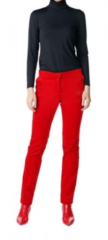 Pink Tartan Velvet Pant, Size: 4, Colour: Red, Retail: $294.00