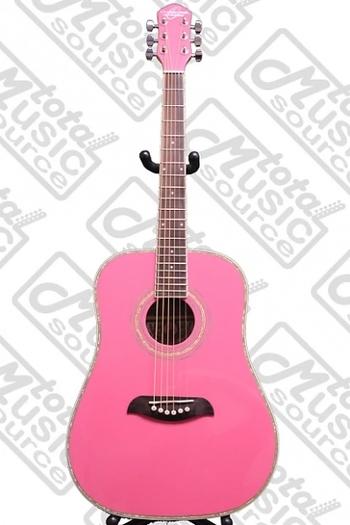 Oscar Schmidt 422200 OG1/P Pink Dreadnought Acoustic Guitar MSRP $295.00 Cdn