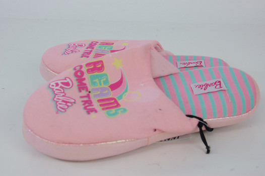 Barbie Dream Slippers Pink Girls Size 2/3