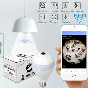 1080P HD 360° Panoramic Hidden Wifi IP Camera Light Bulb