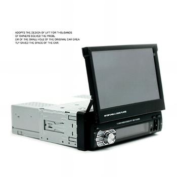 "7"" DC12V Telescopic Touch Screen Bluetooth Call FM Radio Car MP5 Player 9601"
