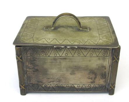 Vintage Metal Jewelry/Trinket Box