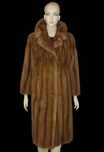 Full Length Caramel Color Mink Coat - Size M - $4,500.00 Cold Storage Value