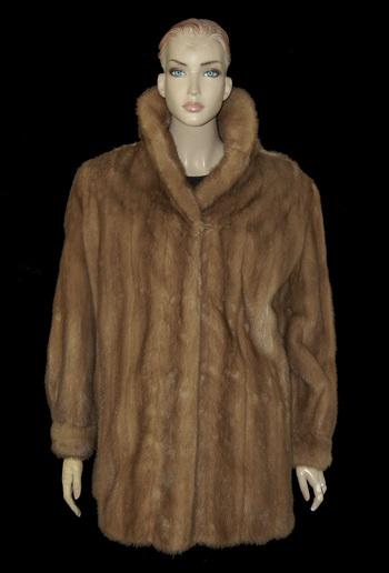 Hazelnut Color Mink Jacket - Size M/L - $3,000.00 Cold Storage Value