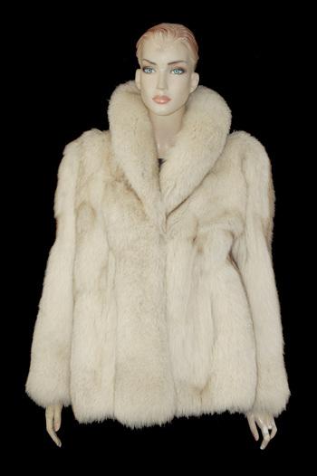 Light Color Fox Fur Jacket - Size M - $4950.00 Cold Storage Value