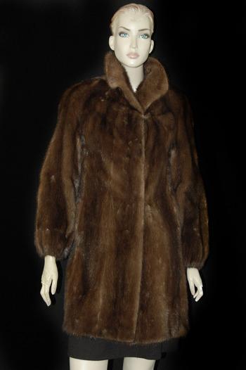 3/4 Length Dark Brown Mink Coat - Size S - $3,795.00 Cold Storage Value