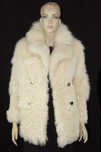 Persian Lamb with Fox Jacket - Size M - $1.950.00 Cold Storage Value