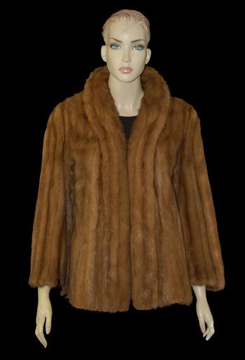 Reddish Mink Jacket - Size S/M - $2995.00 Cold Storage Value