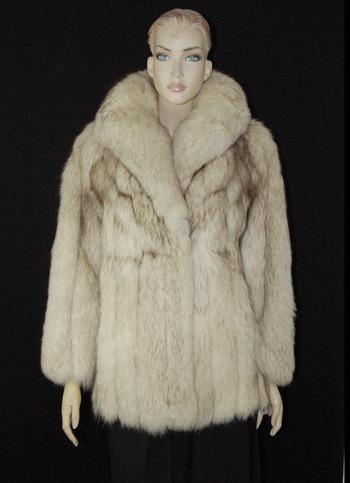 Fox Fur Jacket - Size S/M - $4950.00 Cold Storage Value