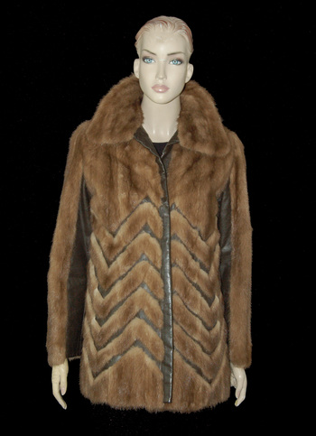 Mink and Leather Jacket - Size S/M - $1995.00 Cold Storage Value