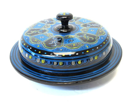 Vintage Lacquered Divided Covered Dish