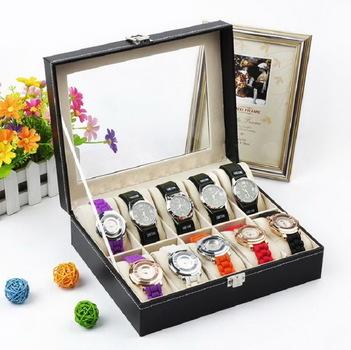 10 Slot Watch Jewelry Display Case Organizer