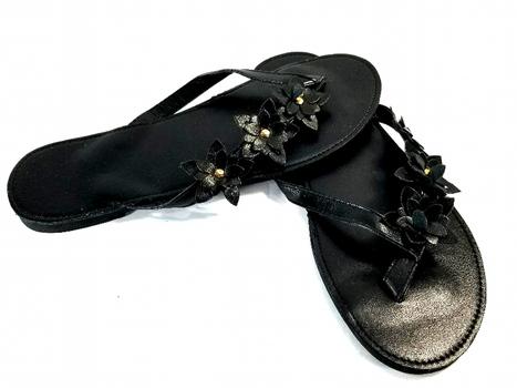 Ladies Black Flip Fops Size 8 - New