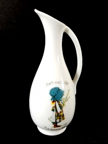 VTG 1976 Miniature Japan Porcelain Hollie Hobbie Pitcher