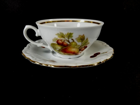 VTG German Bone China Tea Cup and Saucer